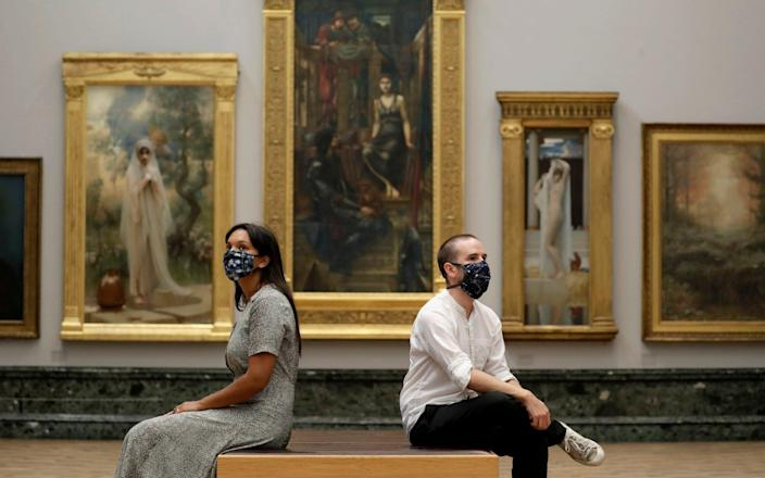 Tate Britain welcomed back socially distanced visitors in July 2020 - and can reopen this May - John Phillips/Getty