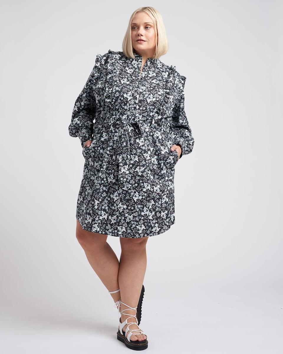 <p>This <span>Universal Standard x Erdem Primrose Ruffle Shirt Dress</span> ($174) is the ideal spring dress.</p>