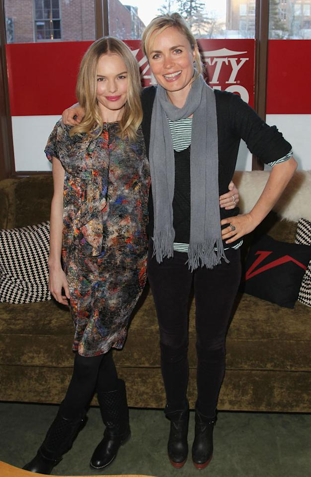 PARK CITY, UT - JANUARY 22:  (L-R) Actors Kate Bosworth and Radha Mitchell attend Day 4 of the Variety Studio at 2013 Sundance Film Festival on January 22, 2013 in Park City, Utah.  (Photo by Jonathan Leibson/Getty Images)