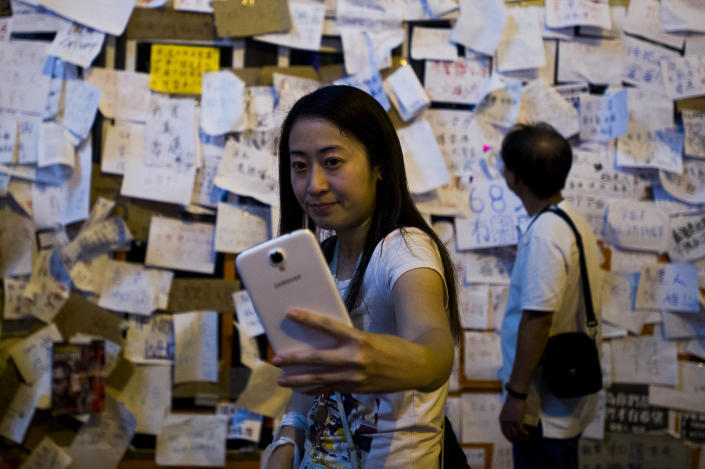"""Photo-sharing app Instagram has been blocked in mainland China as it spins a different narrative about the massive but peaceful protests, portraying demonstrators as """"violent"""", """"extreme"""" and manipulated by foreign forces (AFP Photo/Xaume Olleros)"""