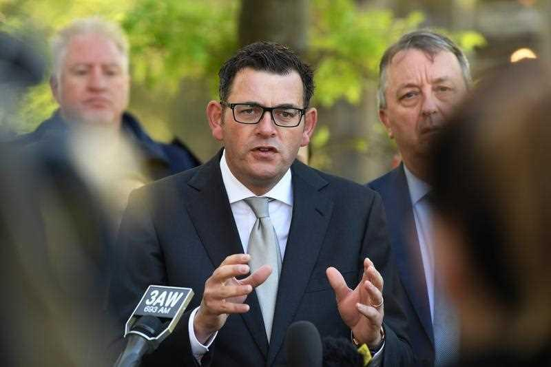 Victorian Premier Daniel Andrews speaks during a media conference to make an announcement about a trial of a heroin injecting room in the inner Melbourne suburb of Richmond.