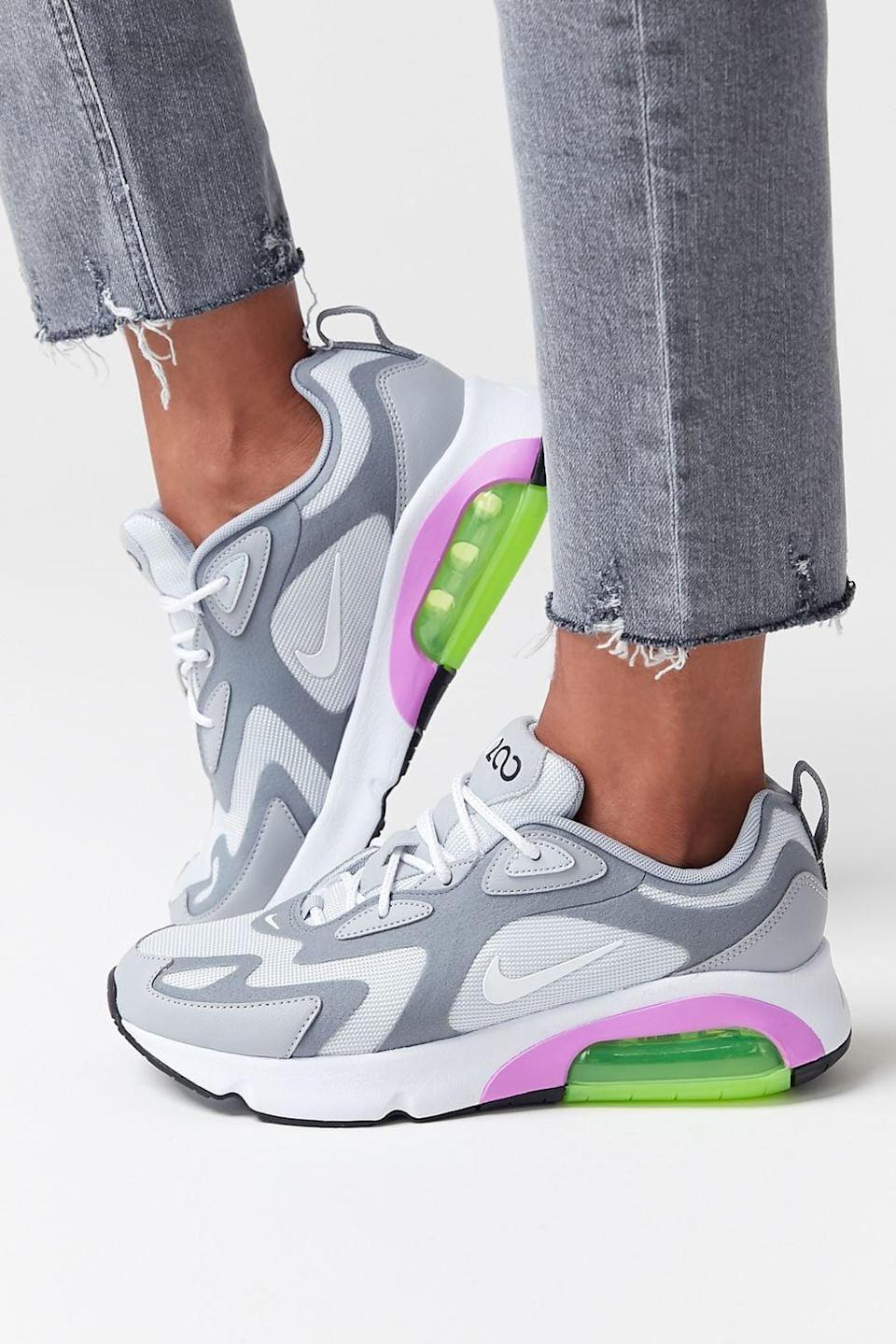 <p>Comfy is the name of the game right now. Help her make a statement in these fun <span>Nike Air Max 200 Sneakers</span> ($99, originally $120).</p>