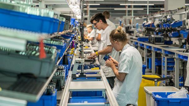 PHOTO: Inside, there are about 350 workers pulling double shifts, working weekends and around the clock at Hamilton Medical in Switzerland. (Hamilton Medical )