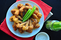 """<p>""""Nailed it! The breading is awesome. Now if I can only get my wife in some of those orange shorts, I WOULD BE IN HEAVEN!"""" <i>-joey9481</i> <b><a href=""""http://www.food.com/recipe/hooters-buffalo-wings-3603?oc=PTNR-YahooFood-favorite-chicken-wing-recipes"""" rel=""""nofollow noopener"""" target=""""_blank"""" data-ylk=""""slk:Get the Recipe>>"""" class=""""link rapid-noclick-resp"""">Get the Recipe>></a></b><br></p><p><i>Recipe by <a href=""""http://share.food.com/community/Todd-Wilbur/style.esi?member_id=2353?oc=PTNR-YahooFood-favorite-chicken-wing-recipes"""" rel=""""nofollow noopener"""" target=""""_blank"""" data-ylk=""""slk:Tood Wilbur"""" class=""""link rapid-noclick-resp"""">Tood Wilbur</a>; Photo by <a href=""""http://share.food.com/community/SharonChen/style.esi?member_id=1800054678?oc=PTNR-YahooFood-favorite-chicken-wing-recipes"""" rel=""""nofollow noopener"""" target=""""_blank"""" data-ylk=""""slk:SharonChen"""" class=""""link rapid-noclick-resp"""">SharonChen</a> </i></p>"""