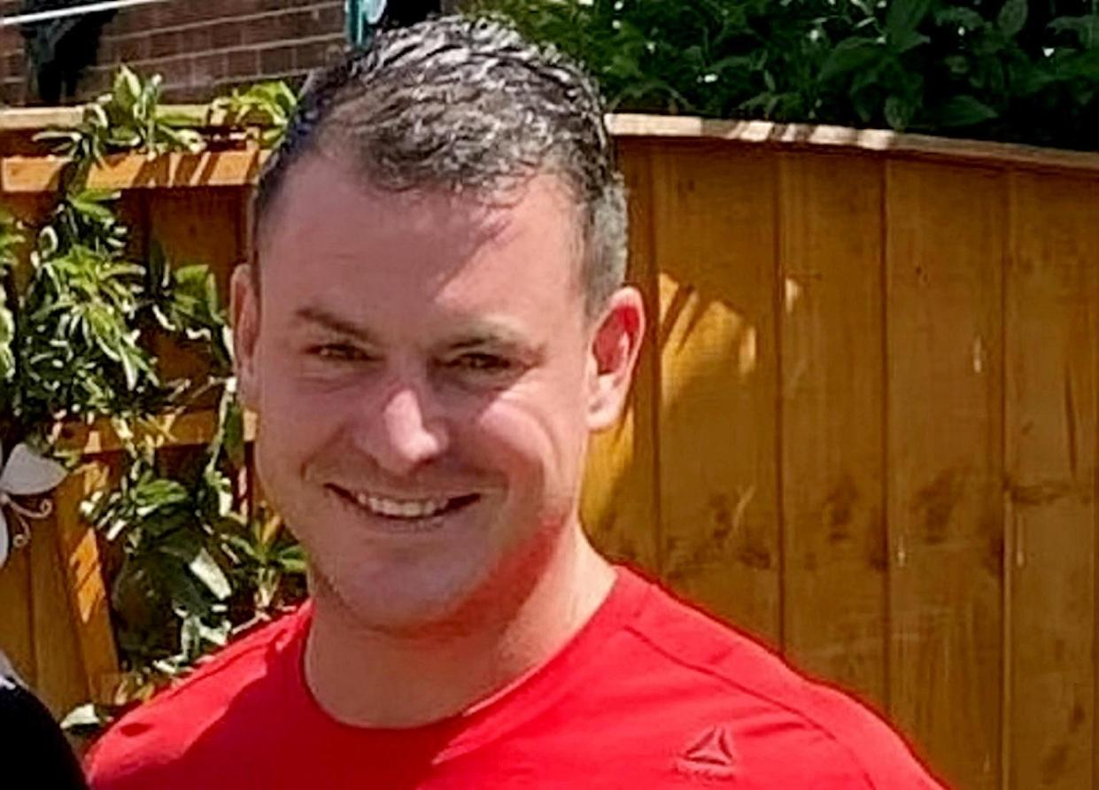 Steven McMyler suffered unsurvivable head injuries and was pronounced dead at the scene in the gardens of Wigan Parish Church a short time after the attack (swns)