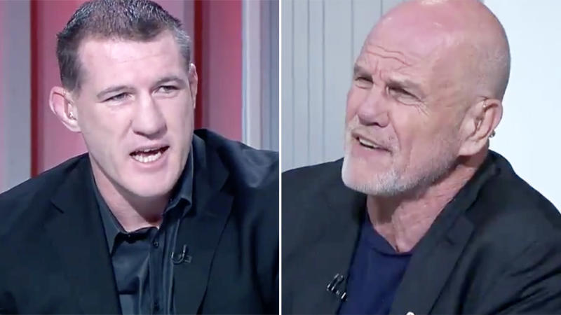 Paul Gallen and Peter FitzSimons, pictured here in a heated debate on Sports Sunday.