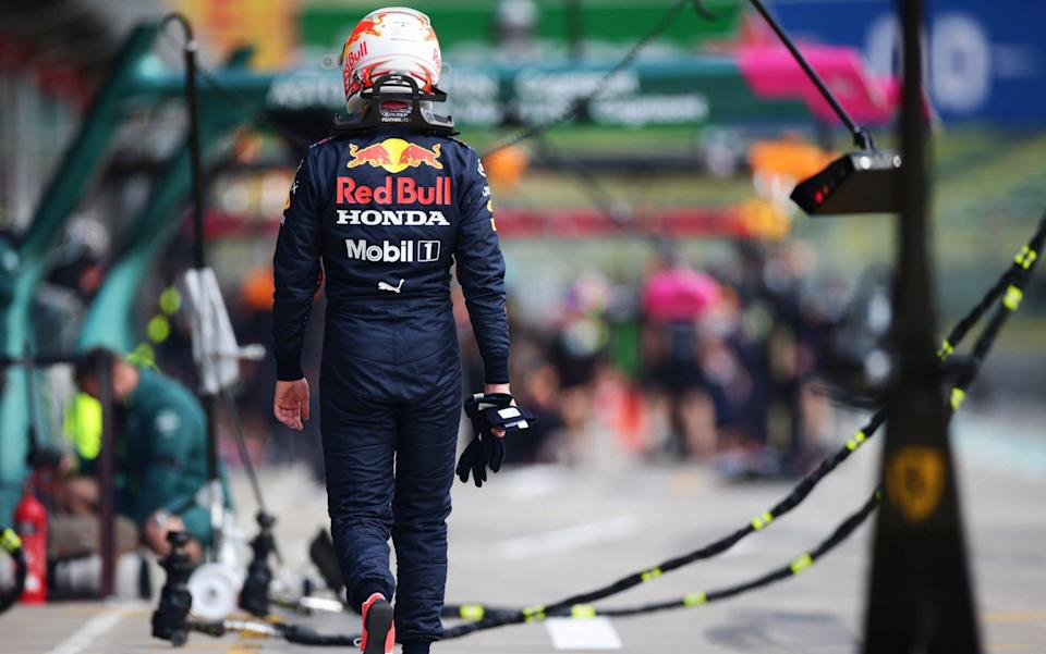 Max Verstappen of Netherlands and Red Bull Racing walks in the Pitlane after stopping on track during practice ahead of the F1 Grand Prix of Emilia Romagna at Autodromo Enzo e Dino Ferrari on April 16, 2021 in Imola, Italy - Peter Fox/Getty Images Europe