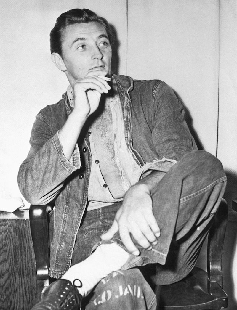 (Original Caption) 1948: Actor Robert Mitchum after his arrest.