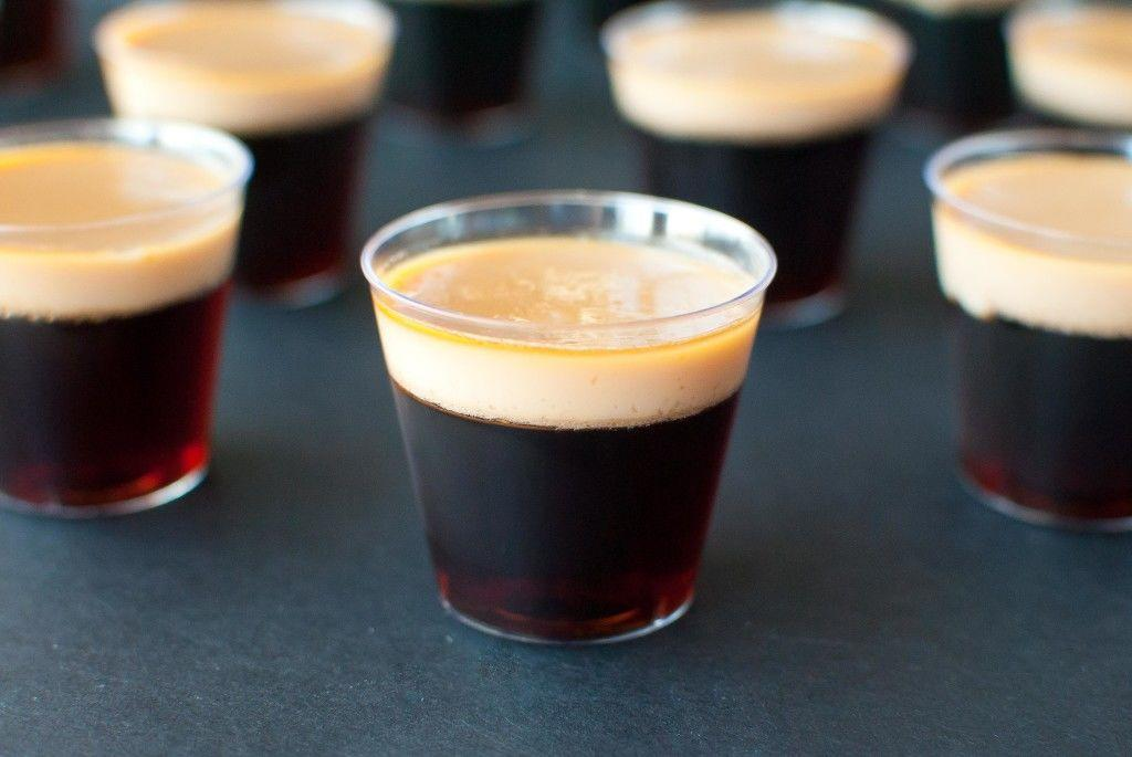 """<p>Sometimes, you just gotta skip the cocktails and go straight for shots.</p><p>Get the recipe from <a rel=""""nofollow"""" href=""""http://slimpickinskitchen.com/baby-guinness-jello-shots/"""">Slim Pickin's Kitchen</a>.</p>"""
