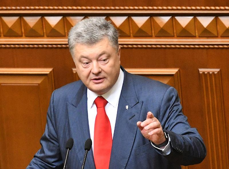 "Ukrainian President Petro Poroshenko said the decision ""is a victory of good over evil, light over darkness"" (AFP Photo/Genya SAVILOV)"