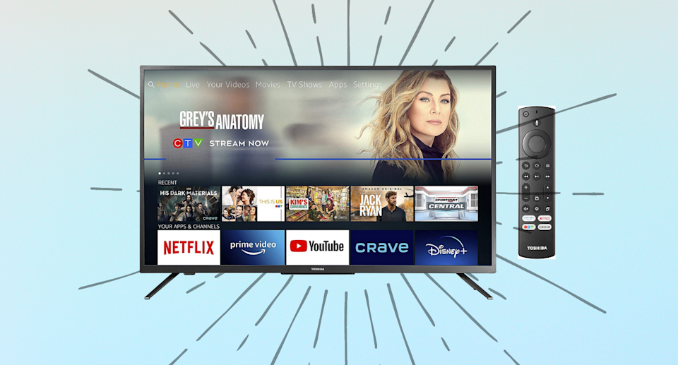 Save $100 on the Toshiba 55-inch 4K Ultra HD HDR Smart LED TV - Fire TV Edition.