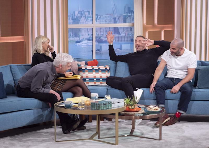 Phillip Schofield and Holly Willoughby teased Paddy over his hangover (Photo: Ken McKay/ITV/Shutterstock)