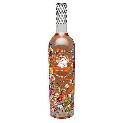 """The Long Island winery jumped in feet-first to the rosé craze a few years ago, debuting this whimsical bottle for the vintage it calls """"a literal taste of the Hamptons high season."""" A blend of Merlot, Chardonnay, Cabernet Franc, Gewürztraminer, Riesling, and Vignoles give it an unusual coppery color. $31, Drizly. <a href=""""https://drizly.com/wine/rose-wine/wolffer-estate-summer-in-a-bottle-rose/p7528?variant=25879"""" rel=""""nofollow noopener"""" target=""""_blank"""" data-ylk=""""slk:Get it now!"""" class=""""link rapid-noclick-resp"""">Get it now!</a>"""