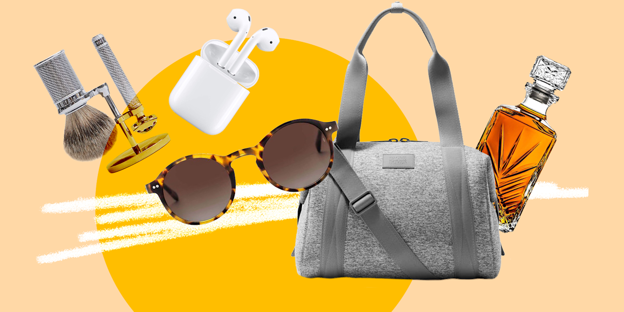 """<p>If you haven't bought a Father's Day present yet, don't panic. Find inspiration with these 32 gift ideas he'll love ranging from headphones to skincare products to a coffee mug with a bad dad joke. </p><p><em>Love Cosmo as much as your dad? <a class=""""body-btn-link"""" href=""""https://subscribe.hearstmags.com/subscribe/splits/cosmopolitan/cos_sub_nav_link?source=cos_print_nav_left%3Futm_campaign%3Ddigital-subscriptions"""" target=""""_blank"""">Subscribe here!</a></em></p>"""