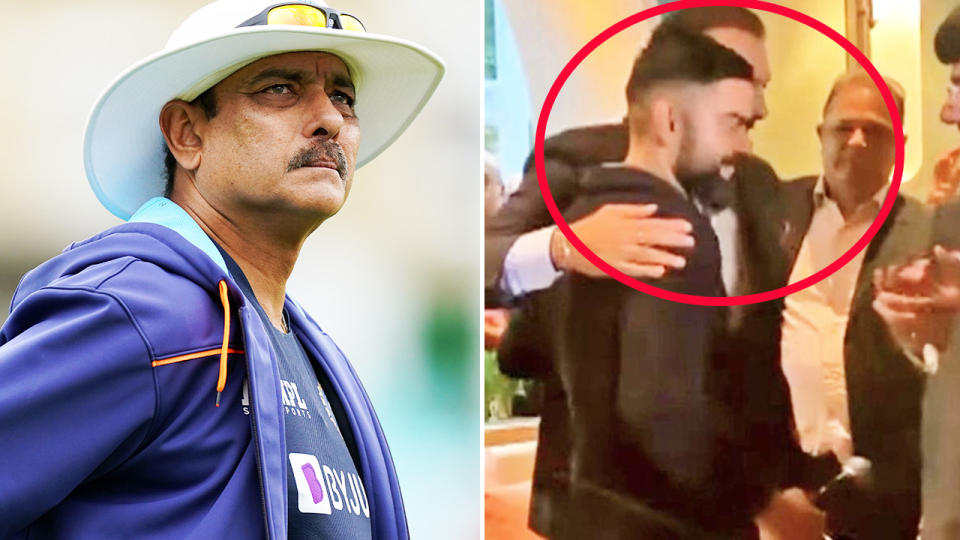Ravi Shastri and Virat Kohli, pictured here at the book launch.