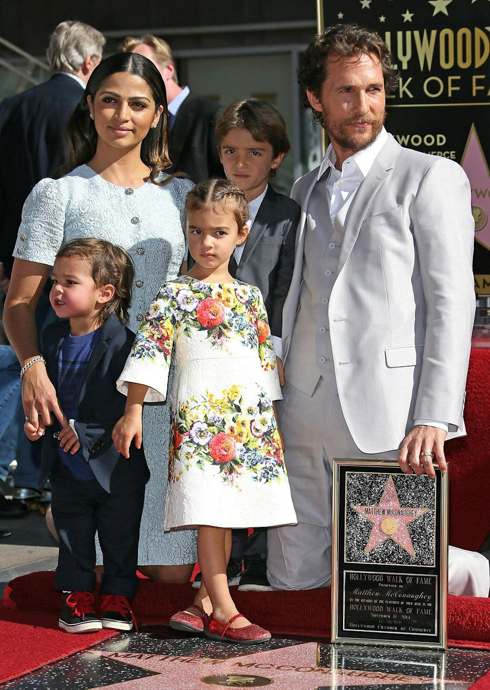 Matthew McConaughey Honored With Star On The Hollywood Walk Of Fame