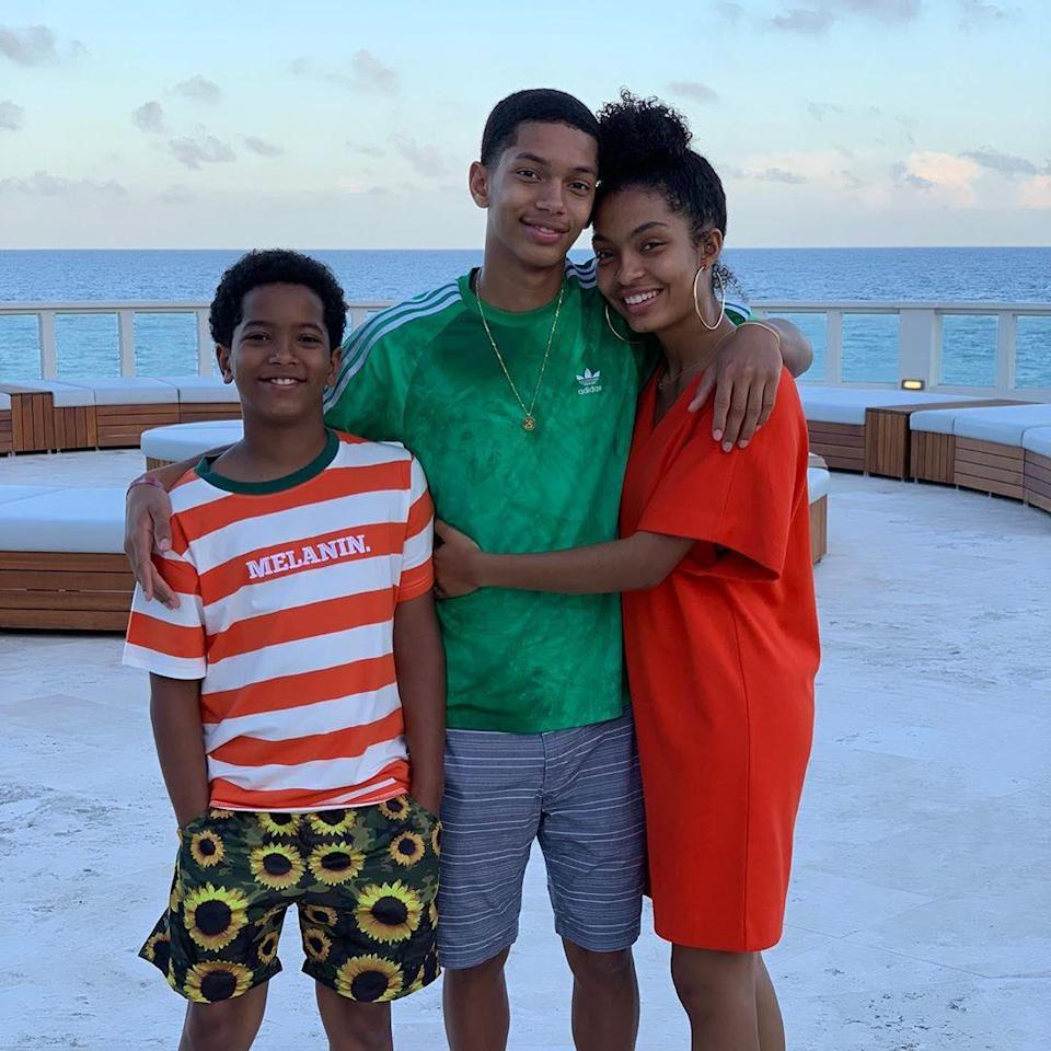 """<p><strong>Location:</strong> Bermuda</p> <p>It's a family affair! <em>Grown-ish</em> star Yara Shahidi jetted off to Bermuda with her mom, dad and brothers (seen here). All five had the """"time of their lives"""" lounging in a luxury villa at <a href=""""https://www.thelorenhotel.com"""" rel=""""nofollow noopener"""" target=""""_blank"""" data-ylk=""""slk:The Loren at Pink Beach"""" class=""""link rapid-noclick-resp"""">The Loren at Pink Beach</a>. Shahidi (<a href=""""https://www.instagram.com/p/BzXO2M2gwUM/"""" rel=""""nofollow noopener"""" target=""""_blank"""" data-ylk=""""slk:a self-proclaimed """"international nap-time expert"""""""" class=""""link rapid-noclick-resp"""">a self-proclaimed """"international nap-time expert""""</a>) and her family enjoyed pink sand beaches and crystal blue waters. They also took advantage of the many resort amenities and activities, including jet skiing, shipwreck explorations, custom perfume mixing and plenty of private dining.</p>"""
