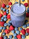 """<p>Berries offer tons of fiber and are lower in carbs than most fruits. Try this <a href=""""https://www.popsugar.com/fitness/Low-Carb-High-Protein-Smoothie-46506689"""" class=""""link rapid-noclick-resp"""" rel=""""nofollow noopener"""" target=""""_blank"""" data-ylk=""""slk:low-carb high-protein berry smoothie"""">low-carb high-protein berry smoothie</a> made with blueberries and raspberries. The almost seven grams of fiber will keep that """"I'm full"""" feeling going strong.</p>"""