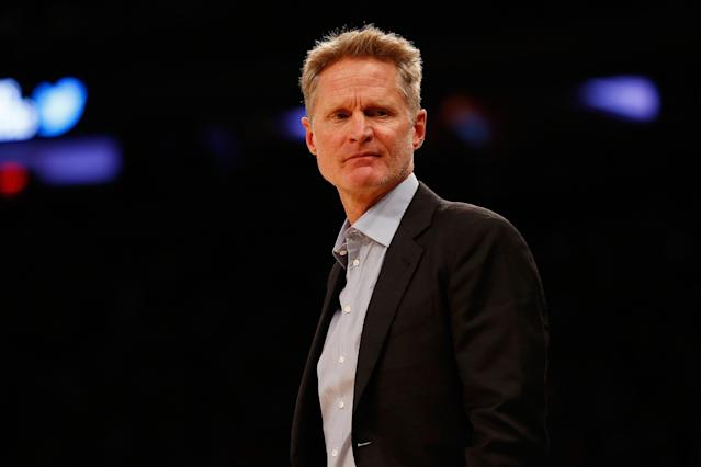 Steve Kerr has had plenty to talk about during the Warriors' trip to New York. (Getty)