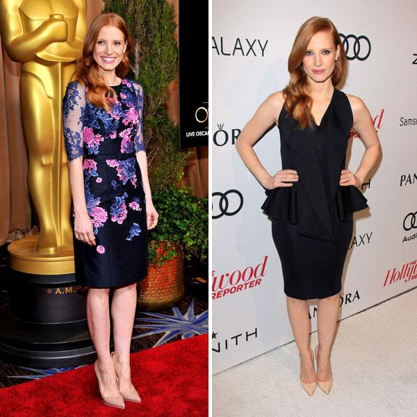 Jessica Chastain  Erdem Oscar nominees luncheon  Givenchy The Hollywood Reporter's Nominee's Night in LA Images © Rex