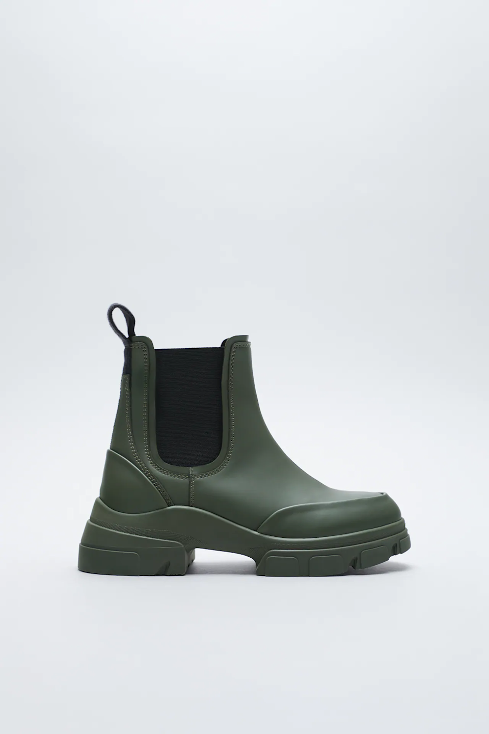 "<br><br><strong>Zara</strong> Low Heel Rubberized Ankle Boots, $, available at <a href=""https://go.skimresources.com/?id=30283X879131&url=https%3A%2F%2Fwww.zara.com%2Fus%2Fen%2Flow-heel-rubberized-ankle-boots-p11129710.html"" rel=""nofollow noopener"" target=""_blank"" data-ylk=""slk:Zara"" class=""link rapid-noclick-resp"">Zara</a>"