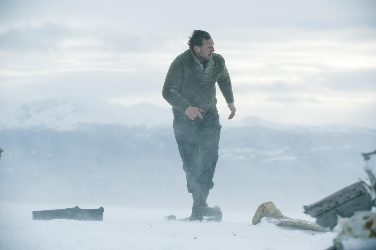 """Liam Neeson in Open Road Films' """"<a href=""""http://movies.yahoo.com/movie/the-grey/"""">The Grey</a>"""" - 2012"""