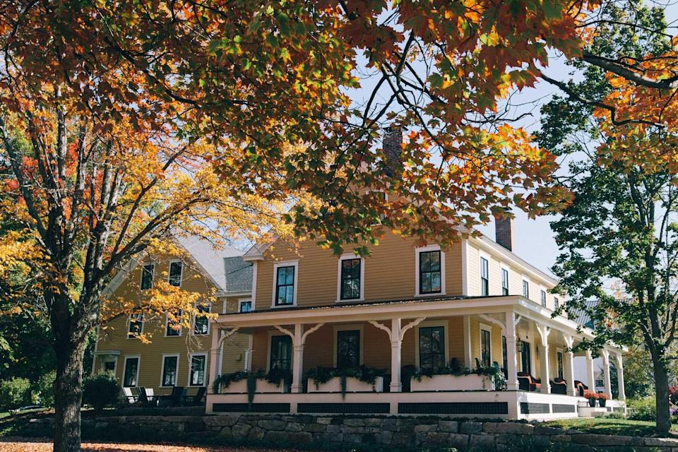 Autumn exterior of Pickering House Inn, voted one of the best hotels in the world