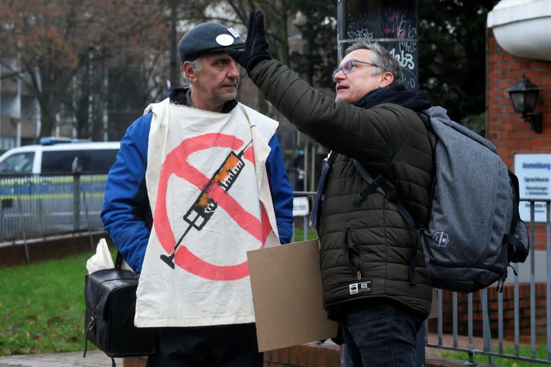 Coronavirus skeptics protest against government restrictions, in Bremen