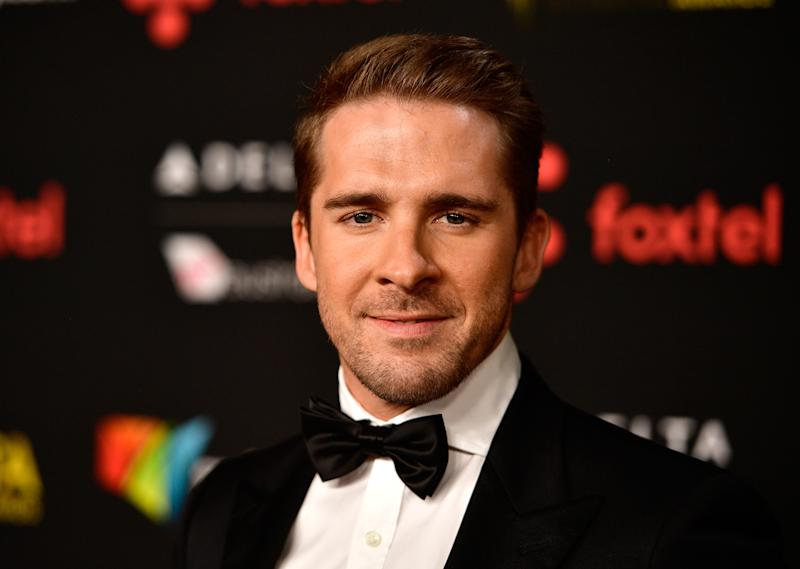Hugh Sheridan in black tie