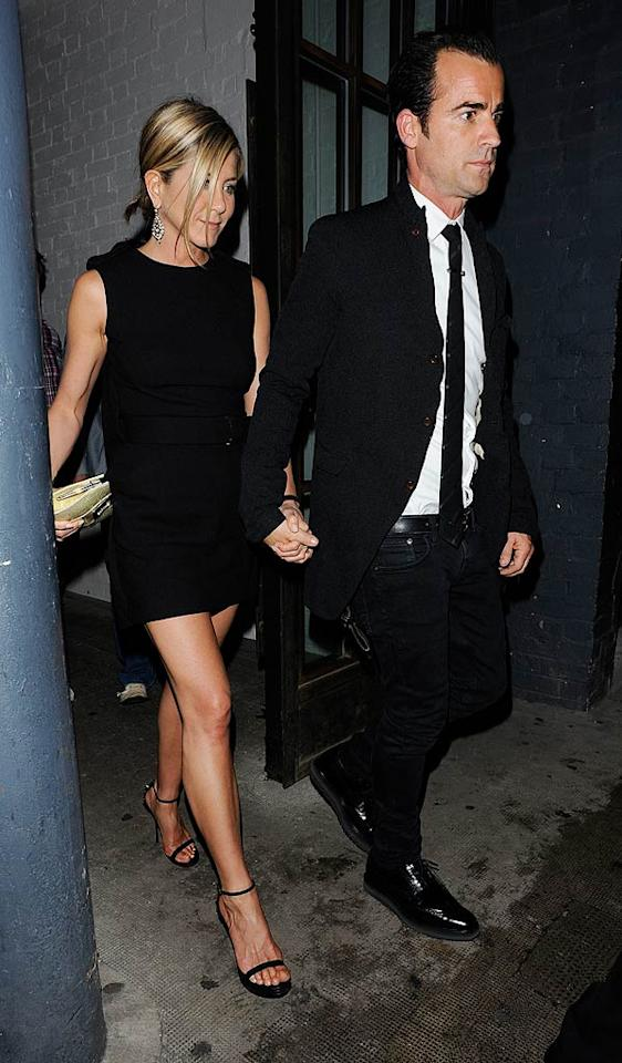 """Jennifer Aniston and Justin Theroux had their """"first fight"""" during their vacation in Hawaii, reports HollywoodLife, which then reveals the argument was over Aniston being """"too obsessed with her looks."""" According to the site, Aniston """"insisted"""" on wearing makeup to the beach and complained she """"urgently needed Botox,"""" which drove Theroux crazy. For how fiercely they fought over Aniston's vanity, and how tense their relationship is now, check out what an Aniston confidante admits to <a href=""""http://www.gossipcop.com/jennifer-aniston-justin-theroux-fight-botox-hawaii-vacation-vain-superficial/"""" target=""""new"""">Gossip Cop</a>. <a href=""""http://www.splashnewsonline.com"""" target=""""new"""">Splash News</a> - July 20, 2011"""