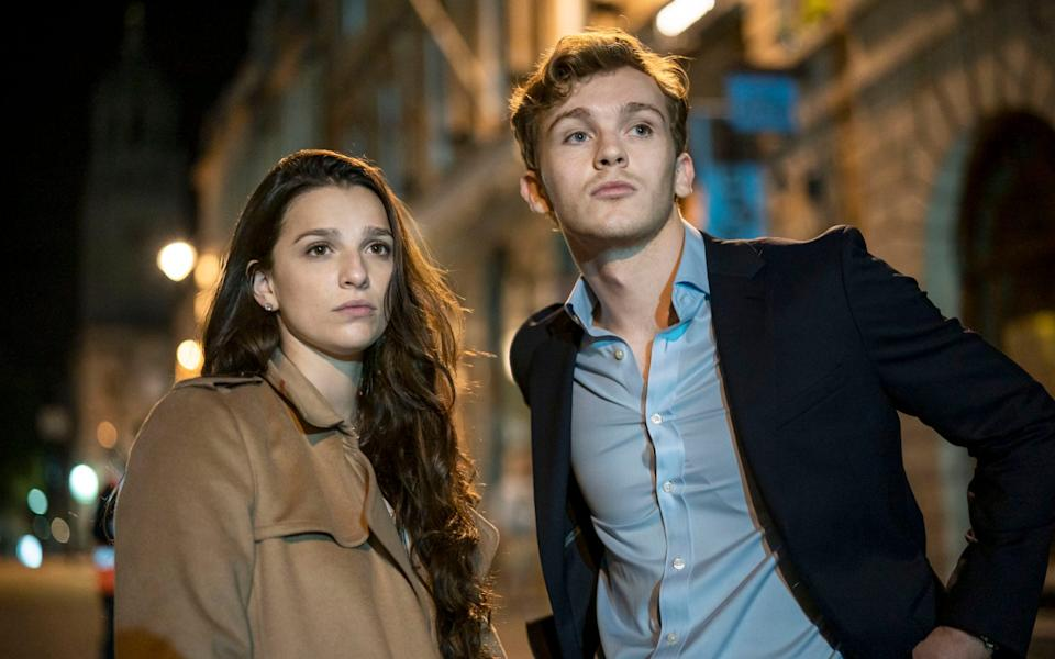 Lawtey as Robert and Marisa Abela as Yasmine in BBC's Industry - BBC