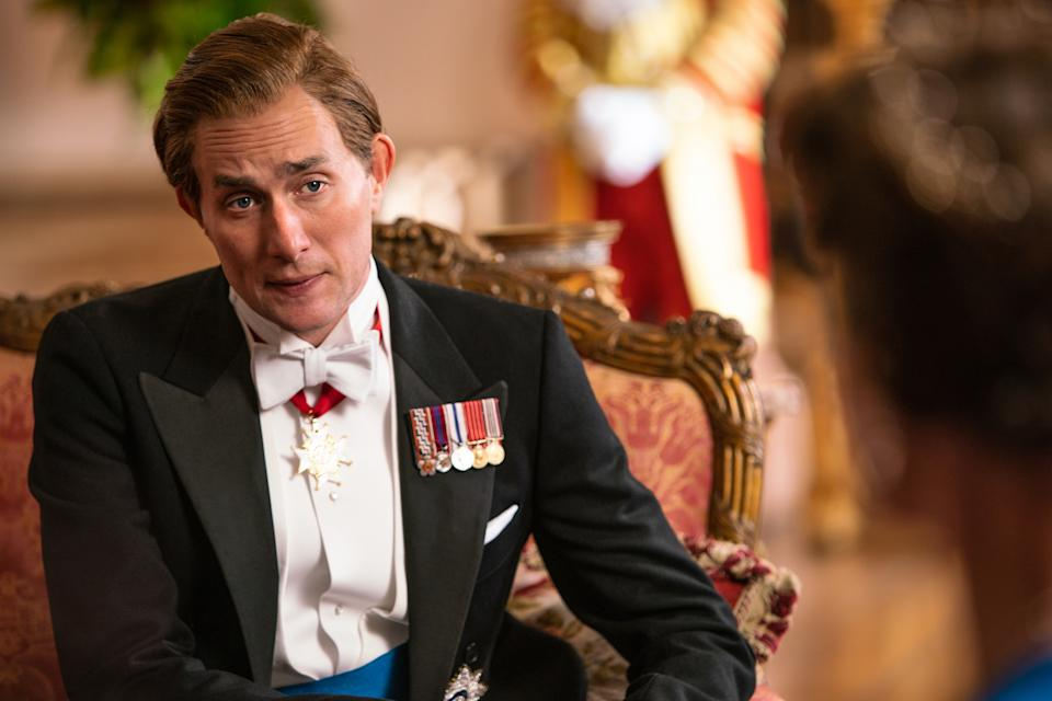Oliver Chris as Charles in The Queen And I (Sky)
