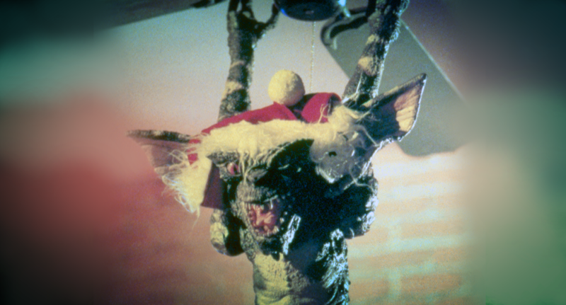 Shot showing a monster from the 'Gremlins'