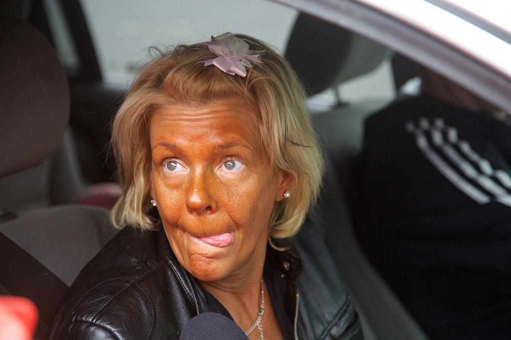 "Speaking of sunbathers, here's New Jersey mom Patricia Krentcil, <a target=""_blank"" href=""http://news.yahoo.com/blogs/sideshow/tanning-booth-mom-says-arrest-taking-daughter-5-153138630.html"">who's been in the news this week</a> for allegedly taking her 5-year-old daughter into a tanning booth. Despite the headline-making scandal, the 44-year-old New Jersey native loves her copper complexion ... and hair bows fit for Barbies. (5/3/2012)"