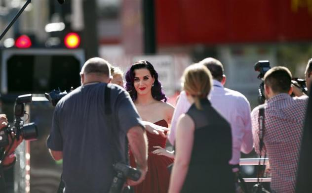 "Katy Perry arrives at the premiere of ""Katy Perry: Part of Me"" at the Grauman's Chinese theatre in Hollywood, California June 26, 2012."