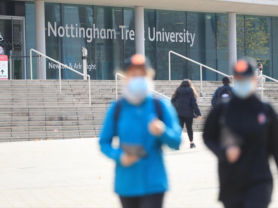 Nottingham Trent University has since confirmed all those involved in the incident have been suspended pending an investigation (PA)