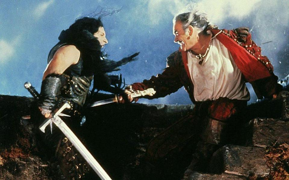 Clancy Brown and Sean Connery in Highlander - Allstar