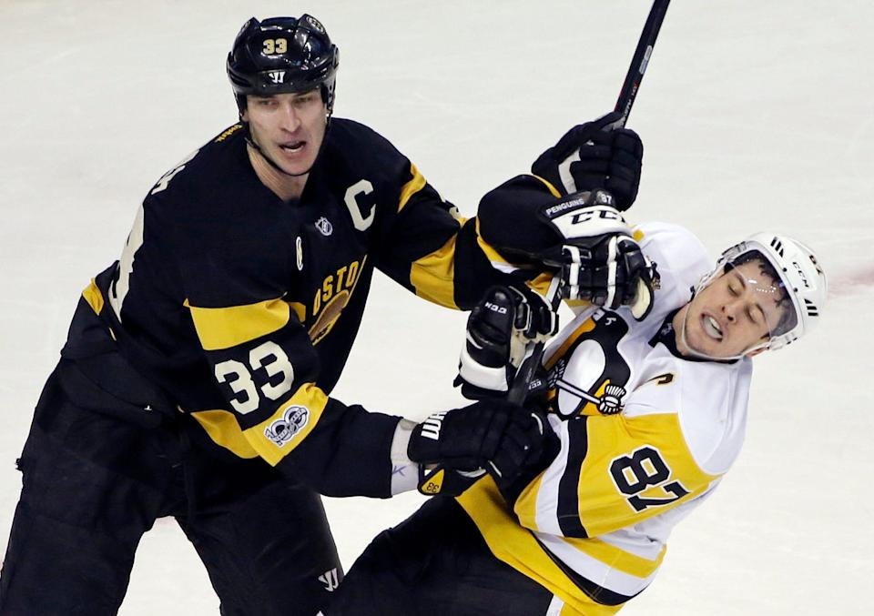 Defenseman Zdeno Chara (left) will bring his defensive prowess and physicality to the Capitals' defense this year.
