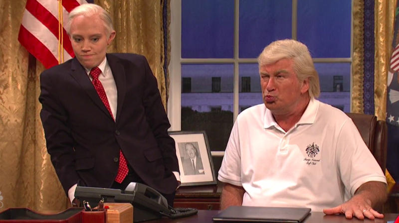 'SNL' Does Its Best To Catch Up On A Summer Of Trump Jokes