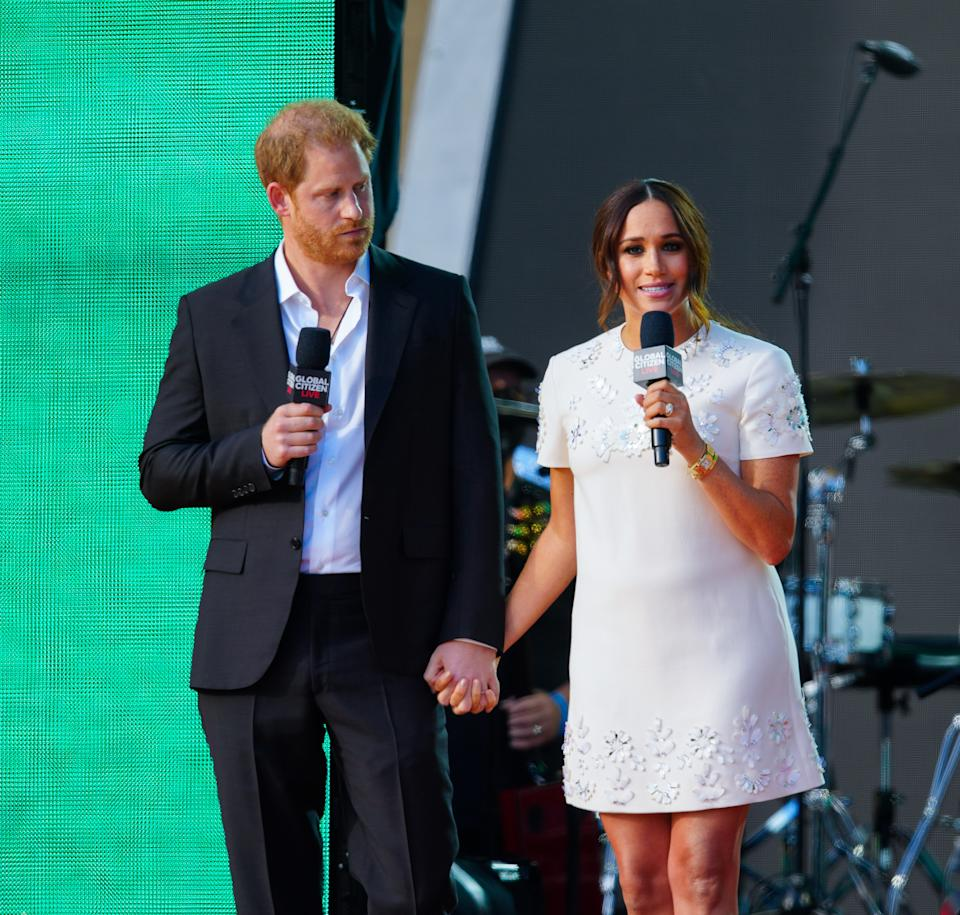 Prince Harry and Meghan Markle at Global Citizen Live