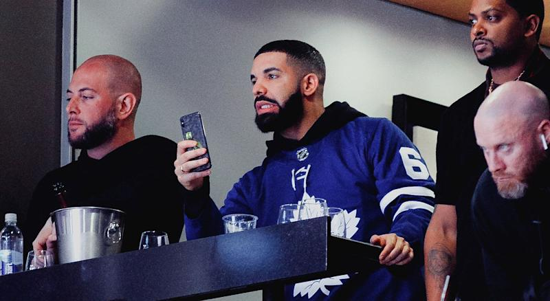 It's good to be Drake. Just like... not right here, please. (Photo by Kishan Mistry/Yahoo Sports Canada)
