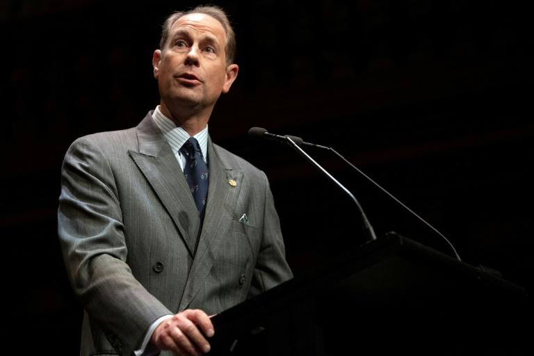 Britain's Prince Edward, pictured in 2009, tried to go it alone working in musical theatre and then television production in artsy ventures that flatlined (AFP Photo/James GOURLEY)