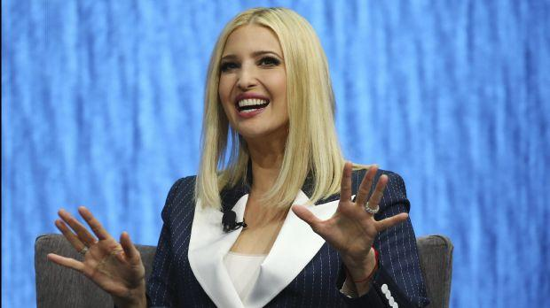 Ivanka Trump, the daughter and senior adviser to U.S. President Donald Trump, answers a question as she is interviewed at the Consumer Technology Association Keynote during the CES tech show Tuesday, Jan. 7, 2020, in Las Vegas.
