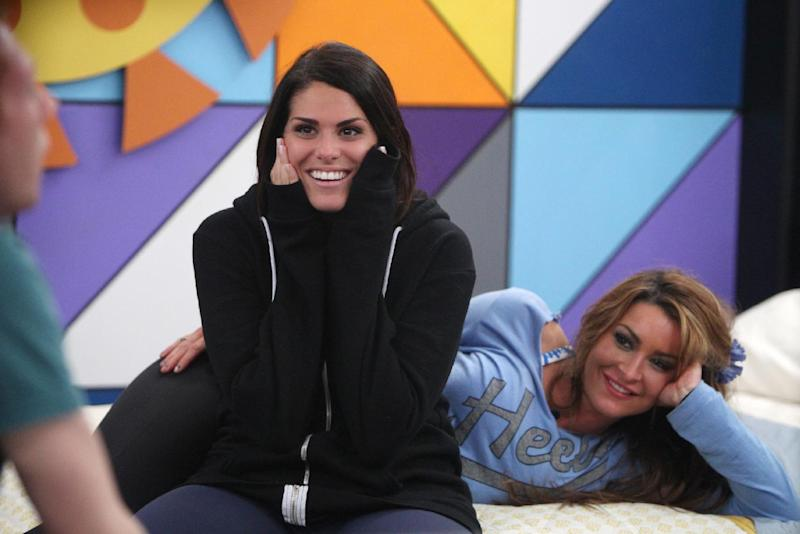 "This photo released by CBS shows houseguest Amanda Zuckerman, left, the 28-year-old real estate agent in Boynton Beach, Fla., on ""Big Brother."" A run of ethnically insensitive remarks has continued on filming for ""Big Brother,"" raising questions about whether CBS should be doing more to police its reality show. (AP Photo/CBS, Sonja Flemming)"