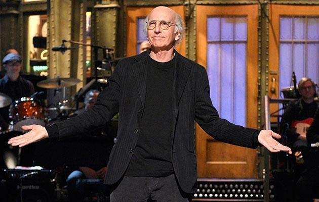 Larry David's SNL opening monologue featured Holocaust jokes. Source: Getty