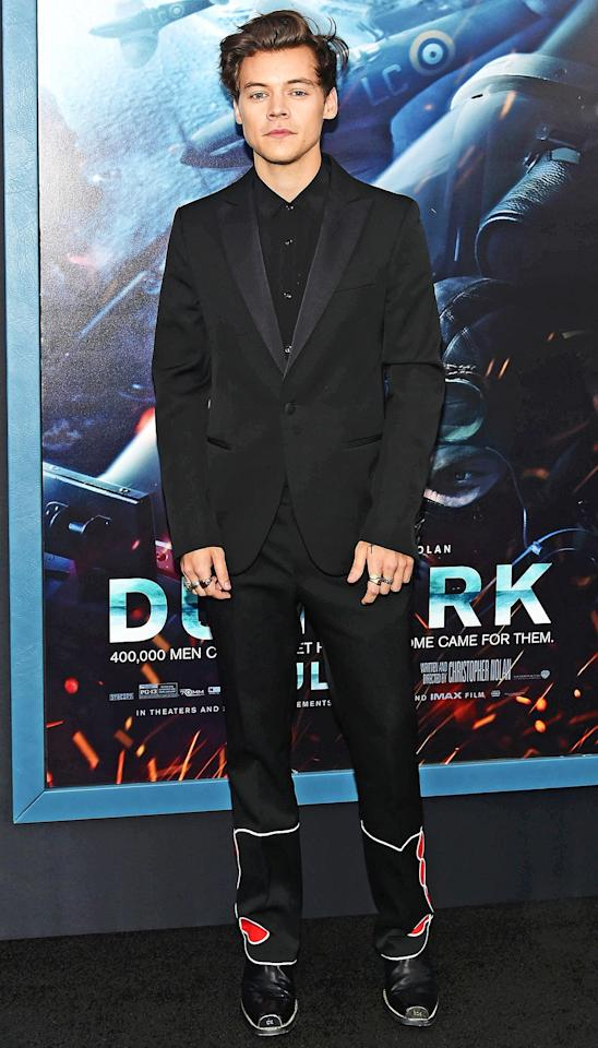 """The former One Direction singer solidified his solo artist status with his self-titled debut album in 2017. He also scored his breakthrough film role that year, playing a World War II soldier in <em>Dunkirk</em>. Meanwhile, <a href=""""https://www.youtube.com/watch?v=9NZvM1918_E"""">his new """"Lights Up"""" music video</a> could qualify for sexiest video (alive)."""