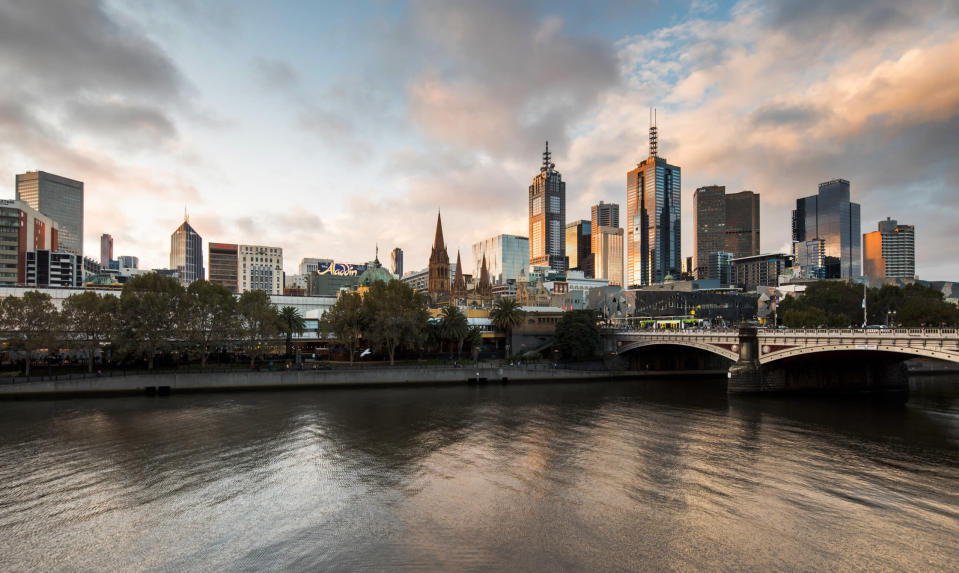 Melbourne CBD at sunset. <i>Photo: Getty</i>