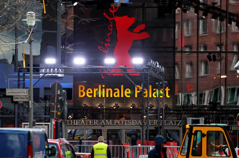 """A general view shows the """"Berlinale Palast"""" where the competition movies will be screened at the upcoming 70th Berlinale International Film Festival in Berlin"""