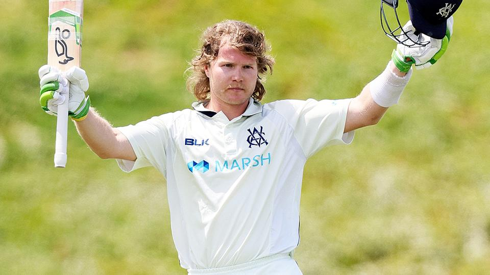 Will Pucovski, pictured here in action for Victoria in the Sheffield Shield.