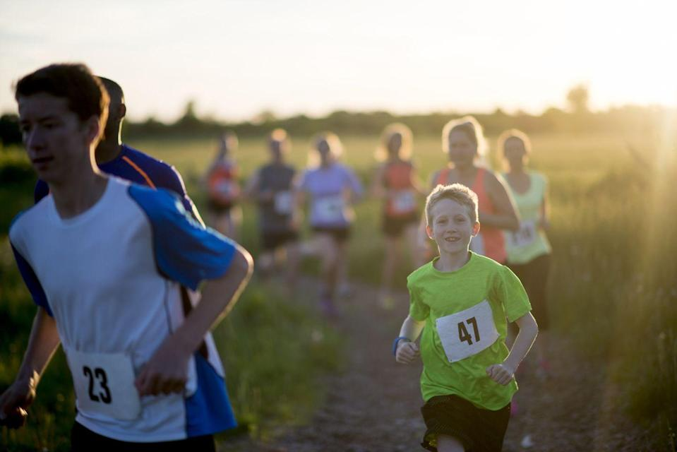 """<p>This one may only appeal to families who love to be active, but it's still a fun challenge — maybe even consider having it on the very last day of spring, so you all have the entire season to train! You could even make family T-shirts and medals to commemorate the day and echo a """"real"""" race.</p>"""